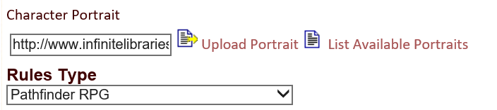 The image upload field